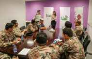 دورة الاعلام المتقدمة للضباط رقم /4 تزور مجموعة الراية الإعلامية