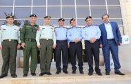 وفد من الشرطة الفلسطينية يزور مجموعة الراية الإعلامية