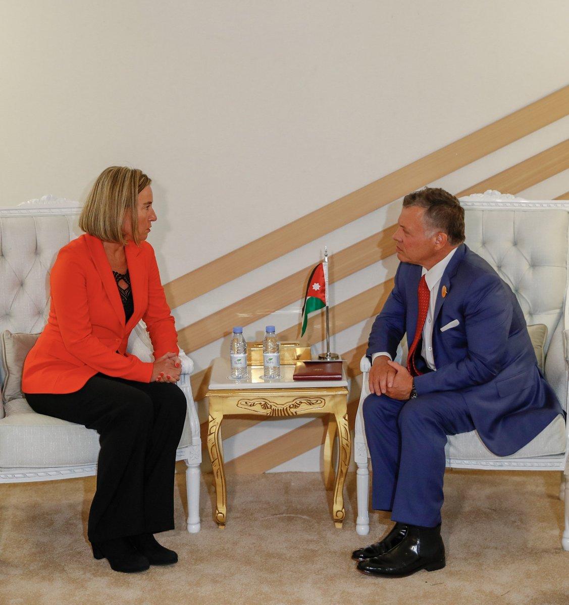 جلالة الملك يلتقي الممثلة العليا للشؤون الخارجية والسياسة الأمنية في الاتحاد الأوروبي