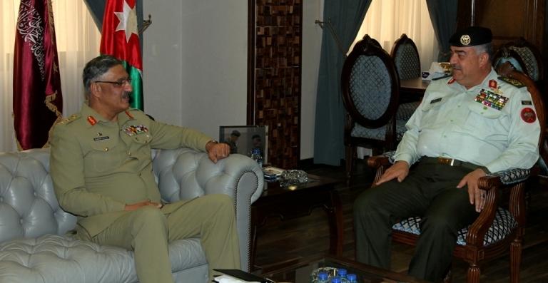 رئيس هيئة الأركان المشتركة يستقبل رئيس هيئة أركان القوات المسلحة الباكستانية