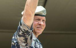 جلالة الملك عبدالله الثاني يحيي نشامى الدفاع المدني خلال تمرين تعبوي